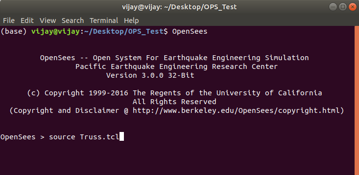 opensees-ubuntu-example